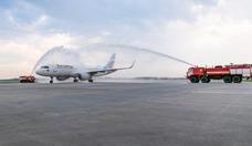Foto Lufthansa-Tochter Eurowings auf dem Flughafen Kolzowo in Jekaterinburg 2R8A5998_2000_1333